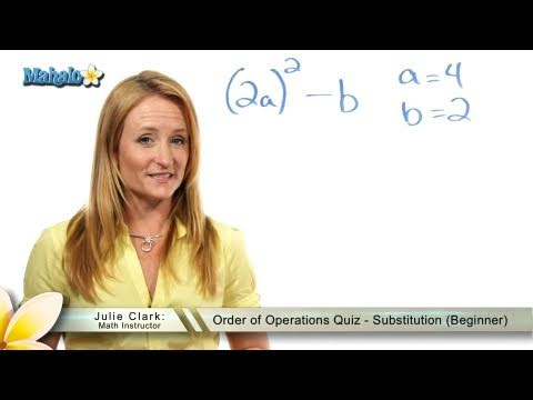 Order of Operations Quiz - Substitution (Beginner)