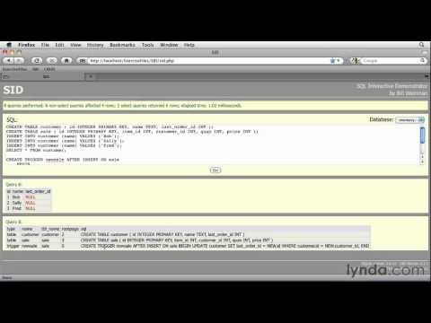 SQLite: How to update tables using triggers   lynda.com tutorial
