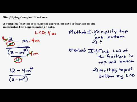 Simplify a Complex Fraction
