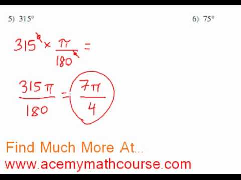Trigonometry - Degrees to Radians Conversion (Part 3)