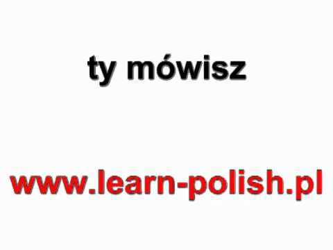 "Polish verbs. Conjugation of the verb ""to speak"""