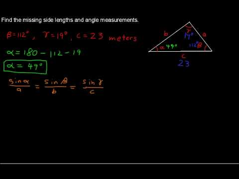 Oblique Triangles and the Law of Sines - Precalculus Tips