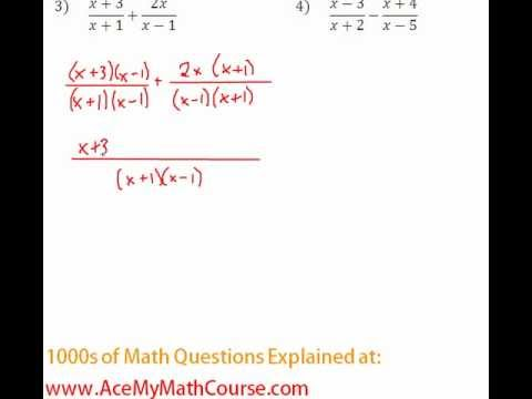 Rationals - Adding Rational Expressions Question #3