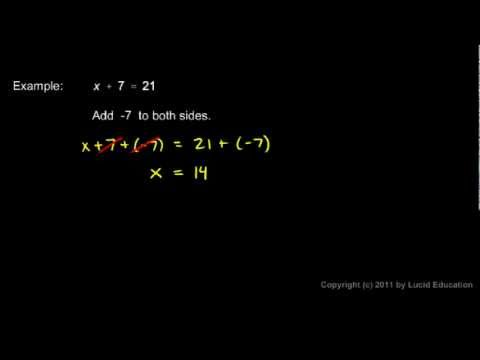 Prealgebra 2.10b - Isolating the Variable