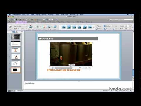 PowerPoint: How to insert video clips   lynda.com tutorial