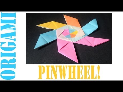 Origami Daily - 054: Modular Pinwheel Decoration - TCGames [HD]