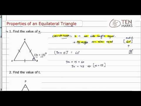 Properties of an Equilateral Triangle
