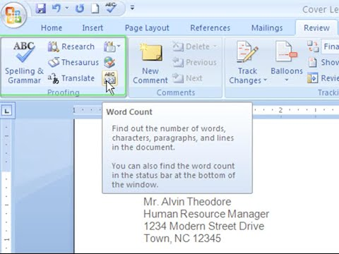 Word 2007: Proofing Features