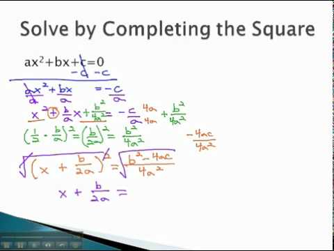 Quadratic Formula - Finding the Formula - YouTube.mp4