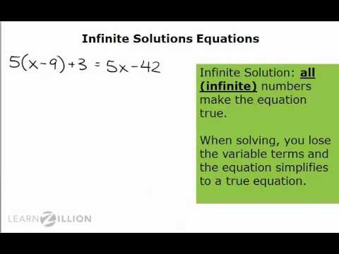 Solve equations with infinite solutions - 8.EE.7