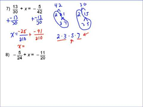 Solving Equations With Fractions Part 4