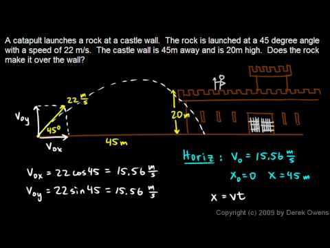 Physics 3.5.4e - Projectile Practice Problem 5