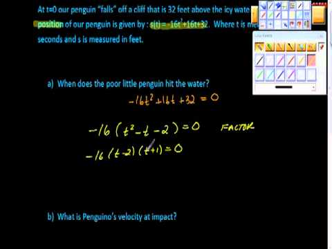 Using the Derivative to find Velocity Penguino AP Calculus