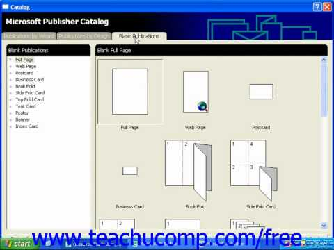 Publisher 2003 Tutorial Using Wizards 2000 Microsoft Training Lesson 1.6