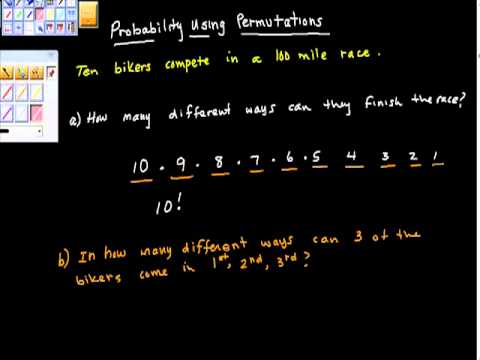 Probability Using Permutations