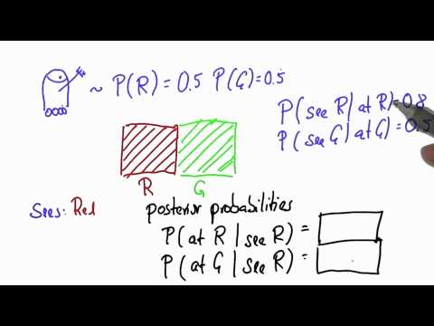 Robot Sensing 3 - Intro to Statistics - Bayes Rule - Udacity