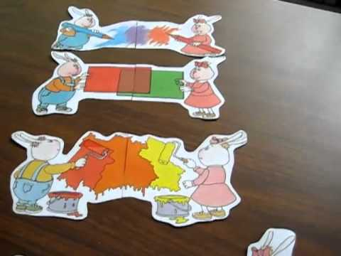 Preschool-Science. Color puzzles