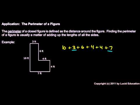 Prealgebra 1.2f - The Perimeter of a Figure