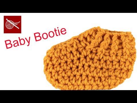 Rib Cuff Crochet Baby Bootie