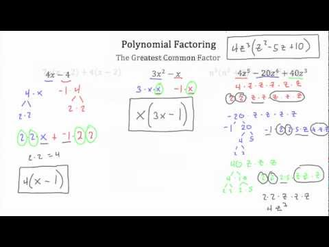 Polynomial Factoring-Textbook Tactics