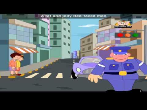 The Laughing Policeman with Lyrics - Nursery Rhyme