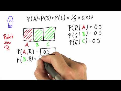Robot Sensing 5 - Intro to Statistics - Bayes Rule - Udacity