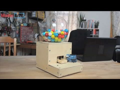 Secret Knock Gumball Machine on Make: Live ep01