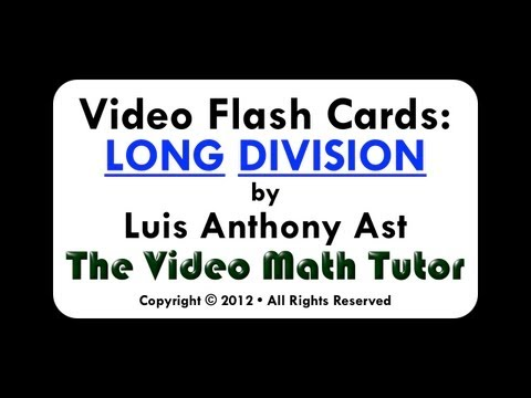 Video Flash Cards: Long Division by 4