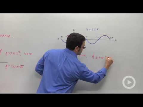 Precalculus - The Inverse Sine Function