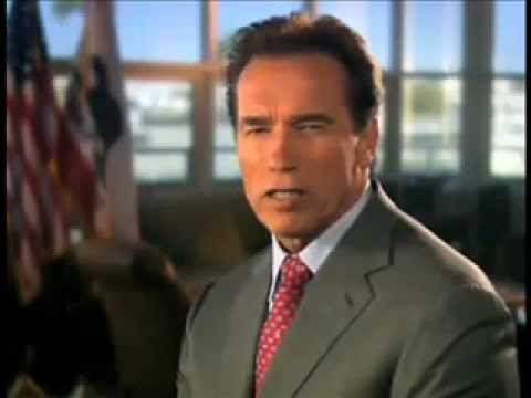 Schwarzenegger TV California state budget ad that cost him a fine of $30,000