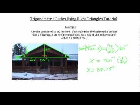 Trigonometric Ratios Using Right Triangles