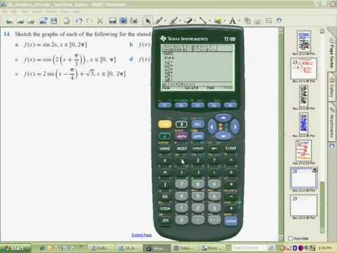 Using a TI89 calculator to sketch 2sinxpi type problems