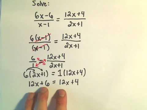 Solving a Rational Equation - Ex 4