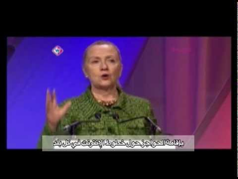 Secretary Clinton Comments on Preventing Fragmentation of the Internet (Arabic Subtitles)
