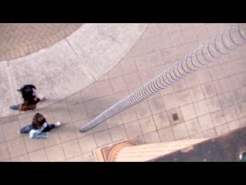 Supersized Slow-Mo Slinky Drop