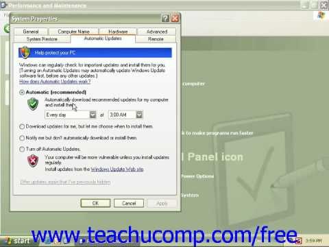 Windows XP Tutorial Windows Updates Microsoft Training Lesson 3.3