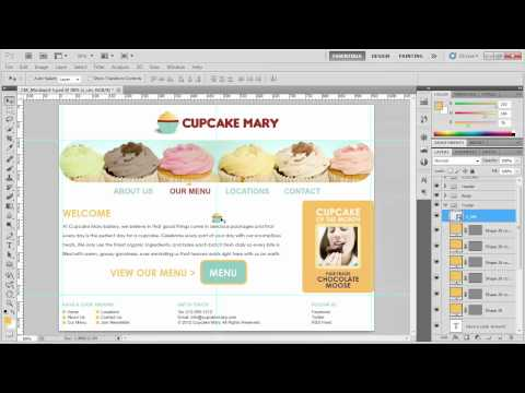 Photoshop tutorial: Styling the footer | lynda.com training