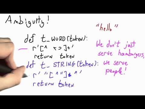 Rule Order - CS262 Unit 2 - Udacity
