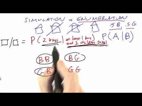 Simulation Vs Enumeration Solution - CS212 Unit 5 - Udacity