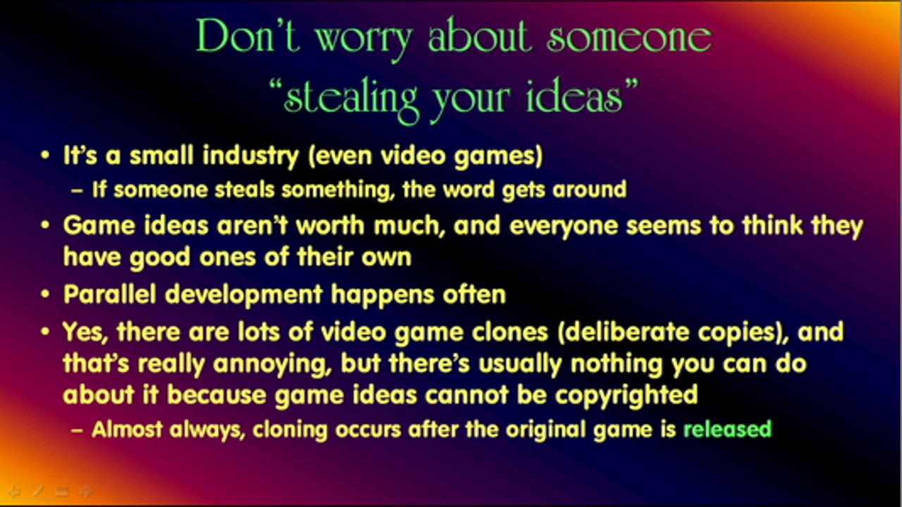 """""""Need to Knows"""" about Game Design"""
