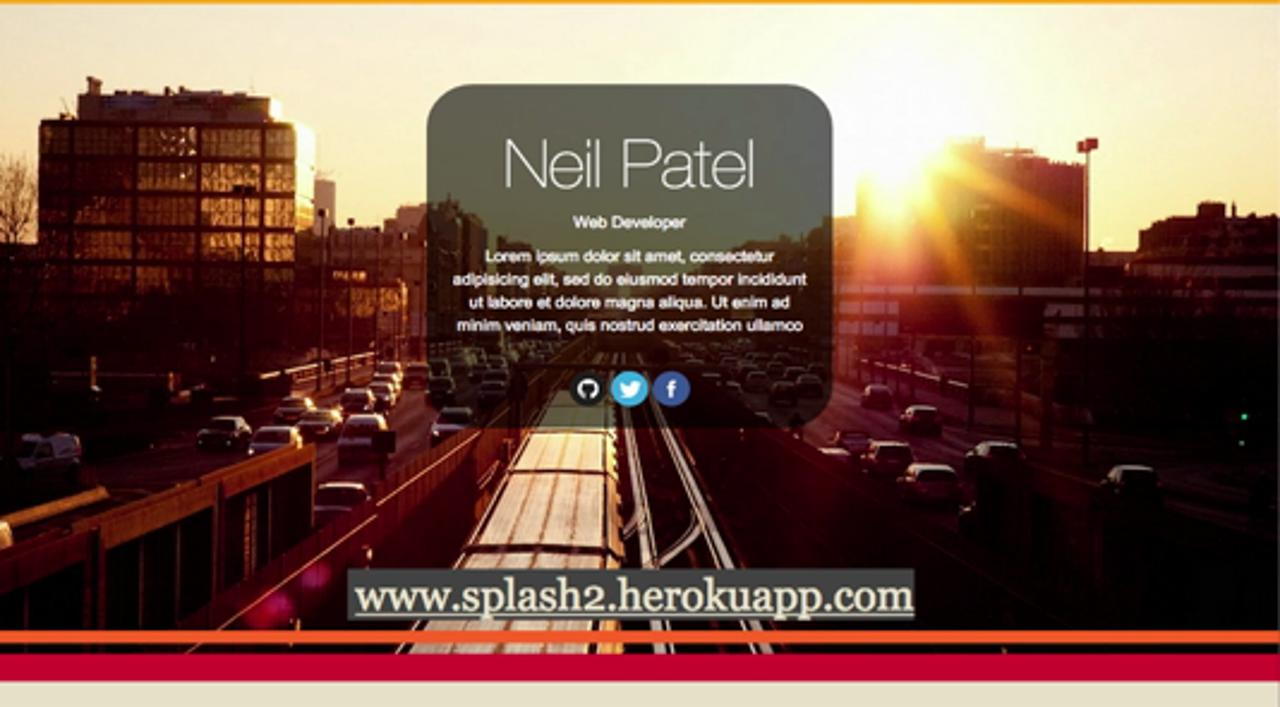 Code a Personal Splash Page in Ruby on Rails, HTML & CSS in Under 30 mins
