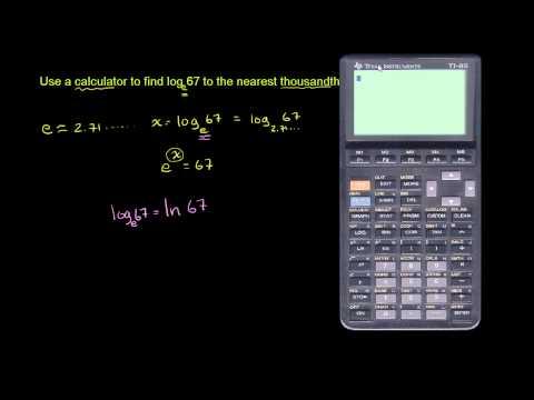 Natural logarithms