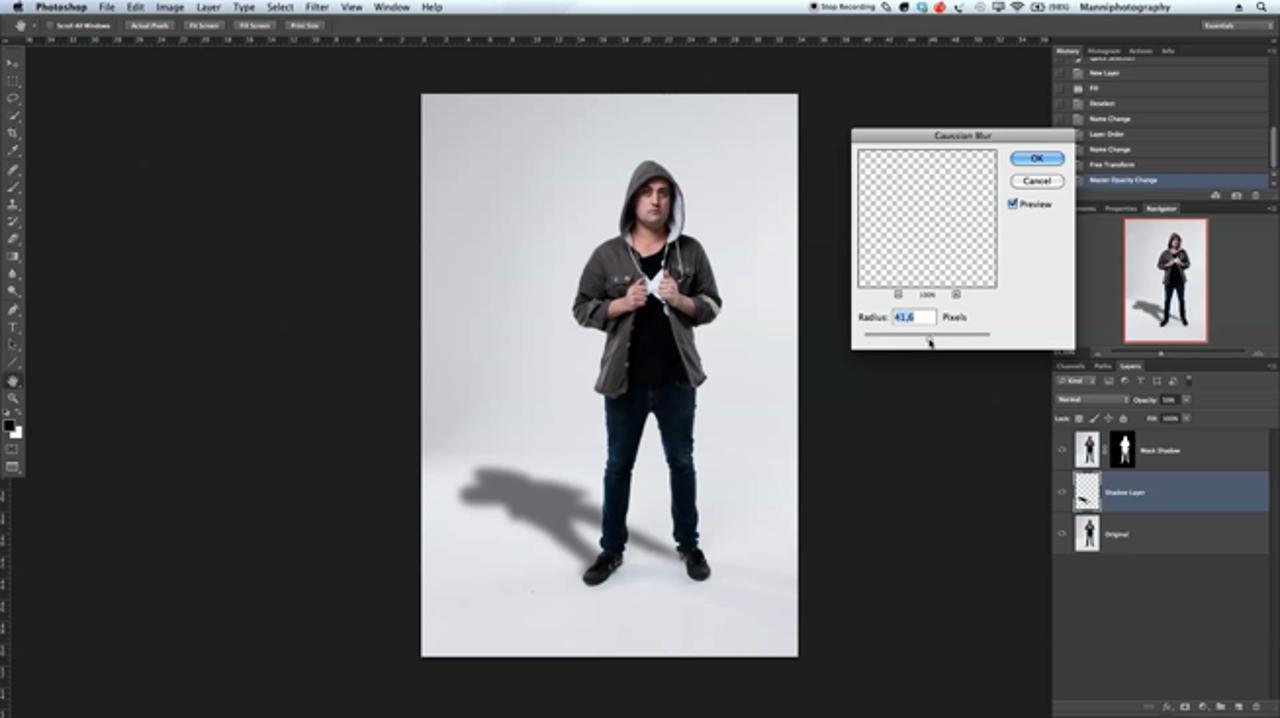 Creating A Drop Shadow in Photoshop