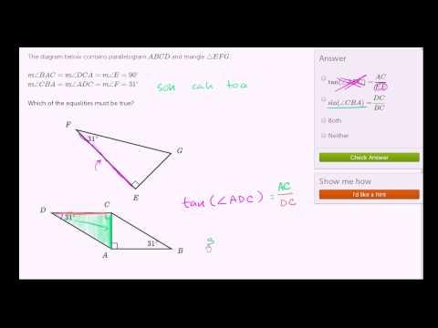 Trigonometric ratios and similarity