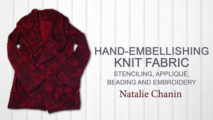 Hand-Embellishing Knit Fabric
