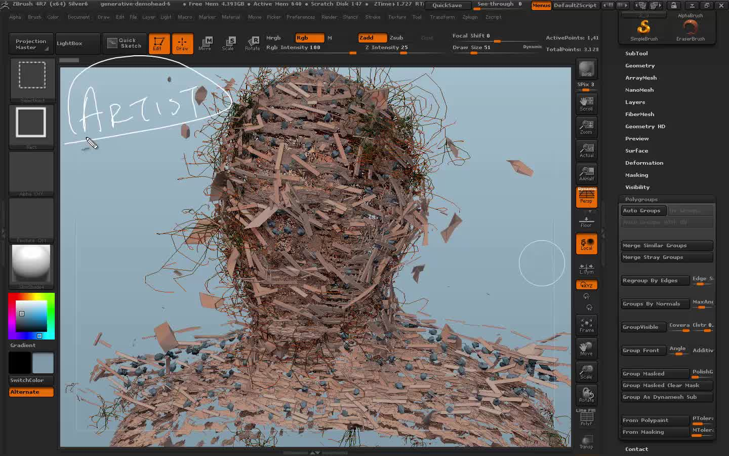 Introduction To Sculpting In ZBrush