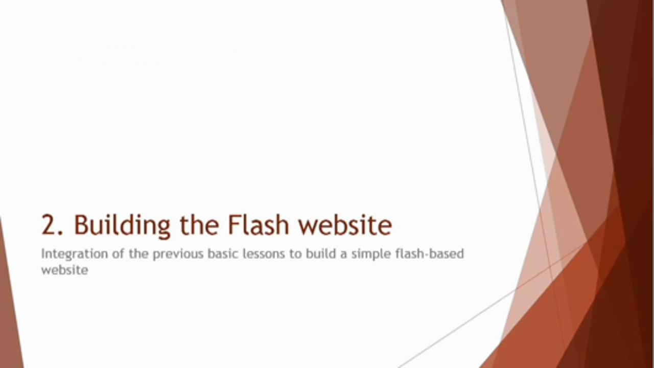 Adobe Flash for Beginners - Build Flash Website From Scratch