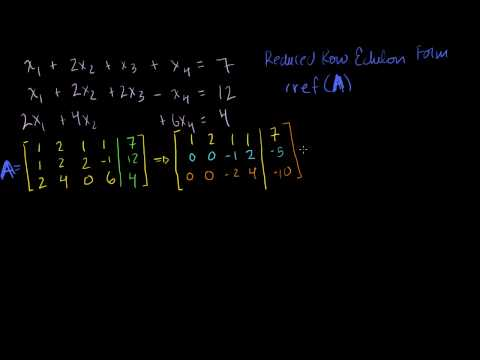 Matrices for solving systems by elimination
