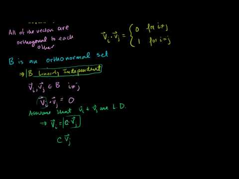 Orthonormal bases and the Gram-Schmidt process