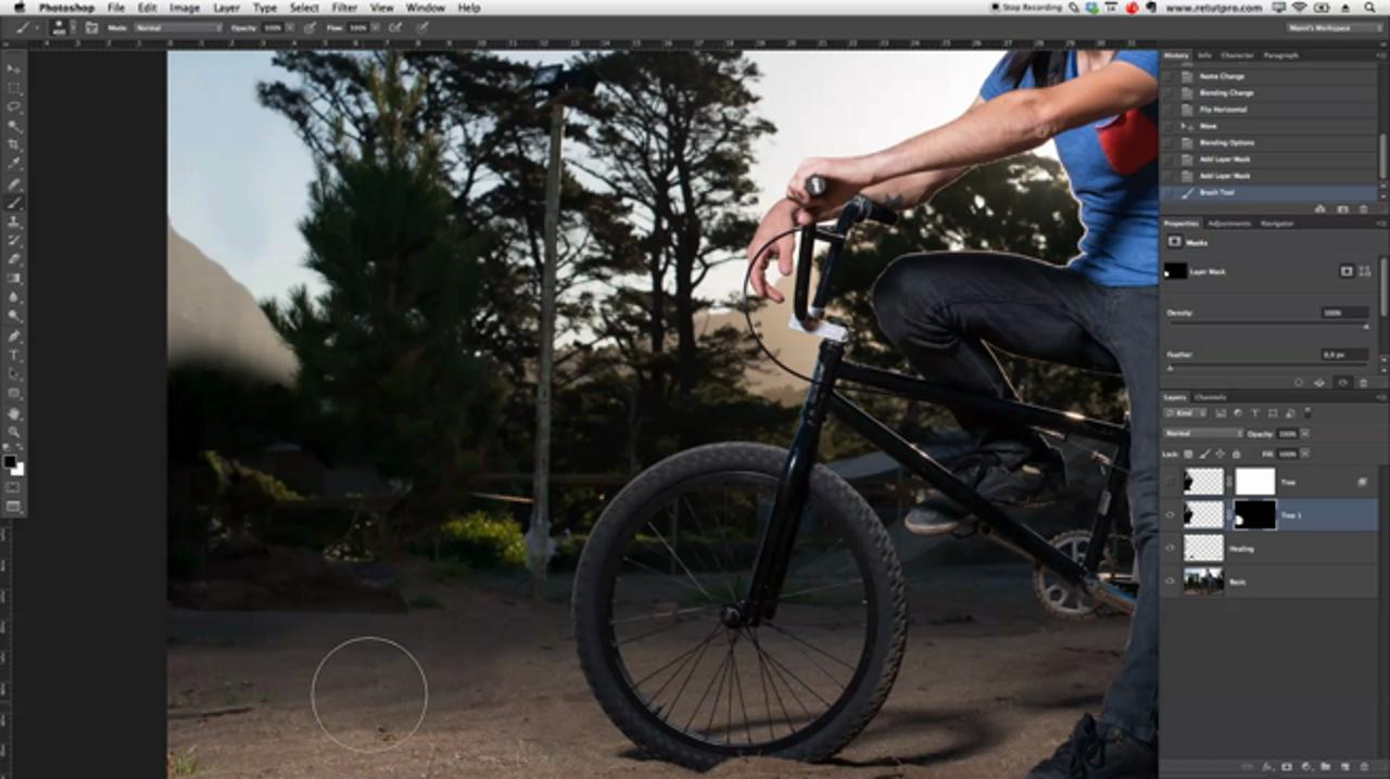 BMX Portrait Retouching in Photoshop